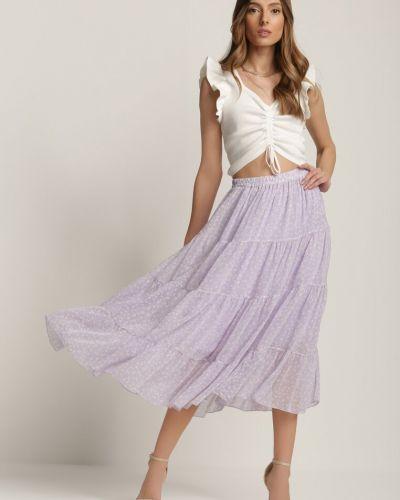 Fioletowa spódnica materiałowa Renee
