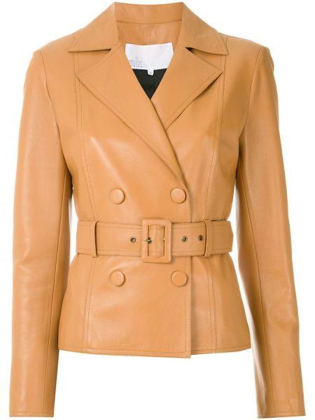 Коричневая кожаная куртка Nk