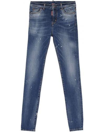 Джинсы классические голубой с карманами Dsquared2