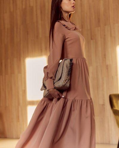 Платье миди оверсайз - бежевое Gepur