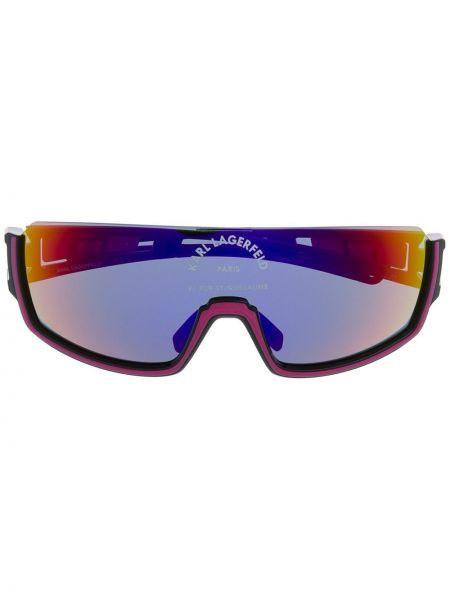 Солнцезащитные очки с градиентом черные Karl Lagerfeld
