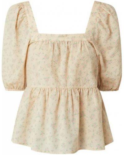 Bluzka bawełniana - różowa Modström