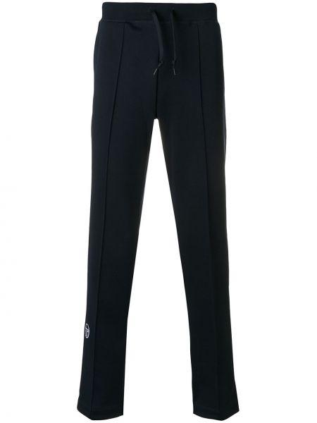 Niebieskie spodnie z wysokim stanem bawełniane Sergio Tacchini