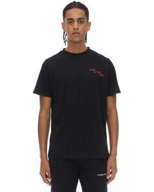 Czarny t-shirt bawełniany Premier Amour