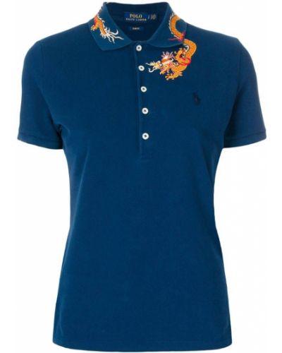 Синее поло в рубчик Polo Ralph Lauren
