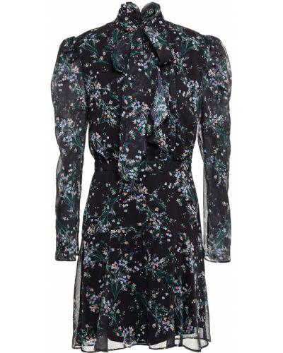 Czarna sukienka mini z printem Rachel Zoe