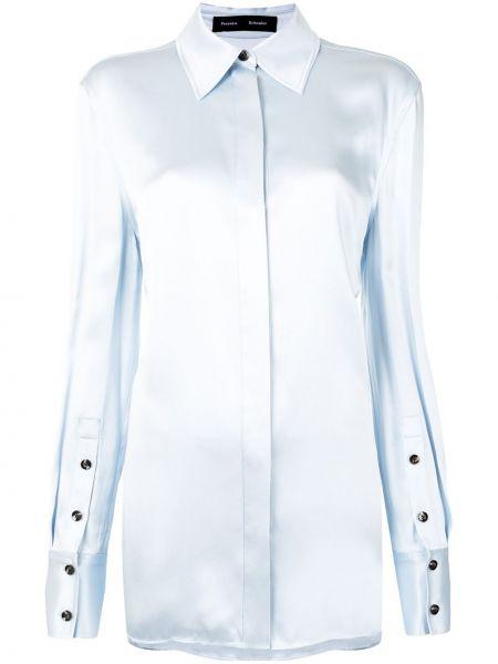 Рубашка с длинным рукавом - синяя Proenza Schouler