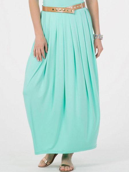 Плиссированная бирюзовая плиссированная юбка Petit Pas