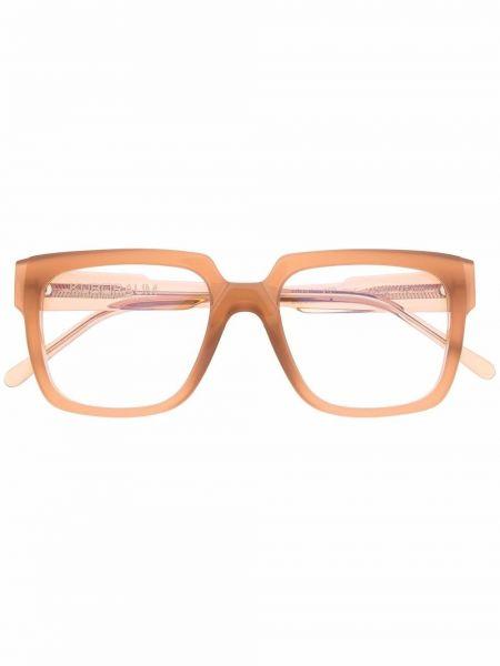Оправа для очков прозрачные - коричневые Kuboraum