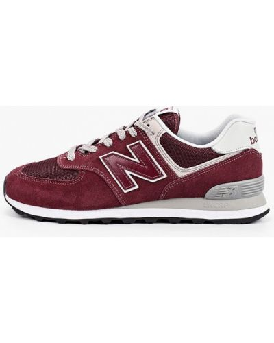 Красные кожаные кроссовки New Balance