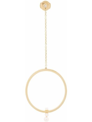 Серьги с жемчугом круглые с бриллиантом Anissa Kermiche