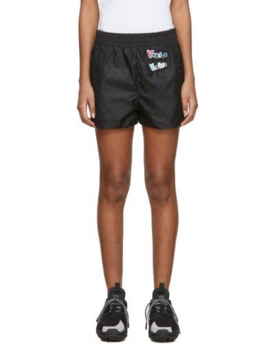 Нейлоновые черные шорты для плаванья с карманами Versus