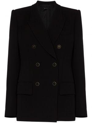 Черный пиджак двубортный с карманами Tom Ford