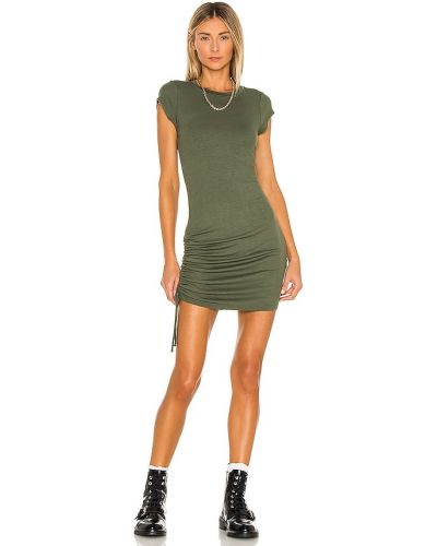 Платье рубашка - зеленое La Made