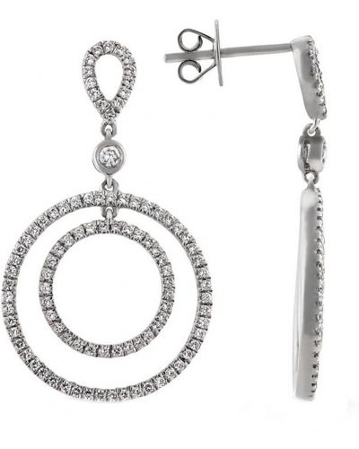 Серебряные серьги с бриллиантом Montebello