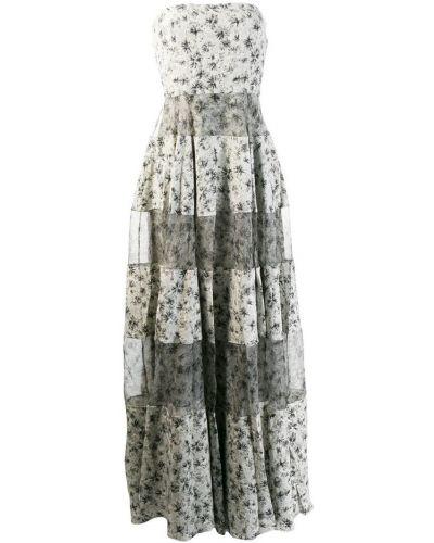 Приталенное расклешенное платье макси на молнии Noon By Noor