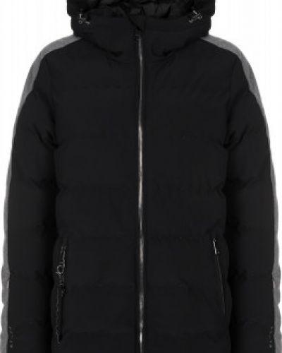 Черная утепленная пуховая куртка горнолыжная Luhta