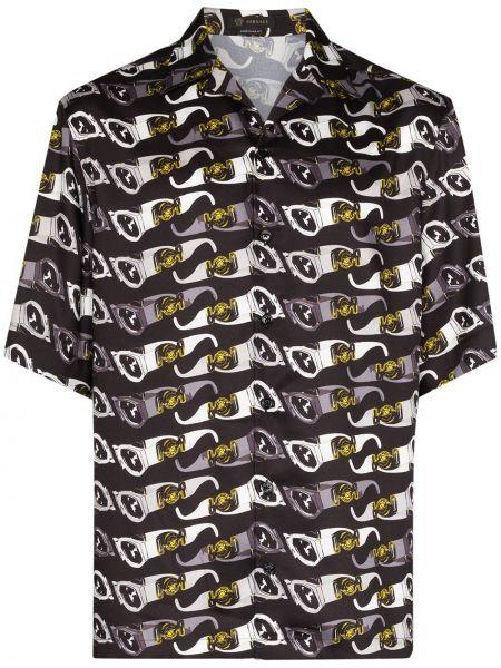 Koszula z nadrukiem światło Versace