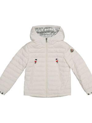Biała ciepła kurtka Moncler Enfant