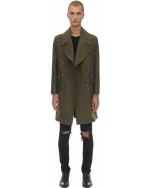 Zielony płaszcz wełniany Bottega Martinese
