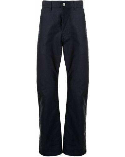 Хлопковые синие классические брюки на молнии Junya Watanabe Man
