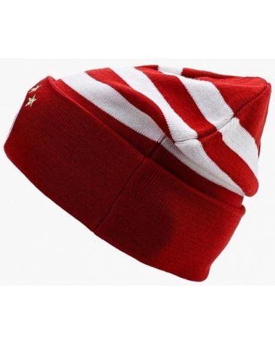 Красная шапка бини Adidas