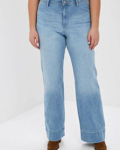 Широкие джинсы расклешенные фиолетовый Violeta By Mango