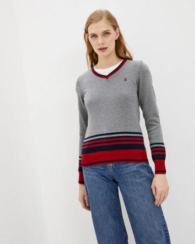 Серый пуловер Giorgio Di Mare