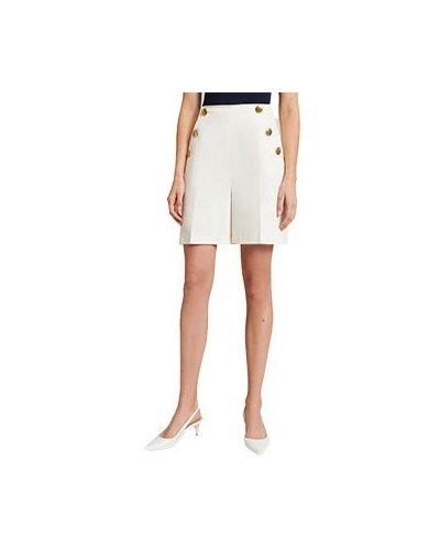 Хлопковые белые шорты Luisa Spagnoli