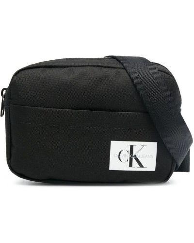 Черная косметичка с карманами на бретелях Calvin Klein Kids