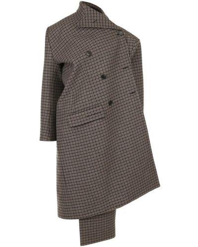 Пальто классическое в клетку Balenciaga