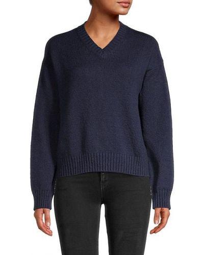 Хлопковый длинный свитер с V-образным вырезом с длинными рукавами Loro Piana