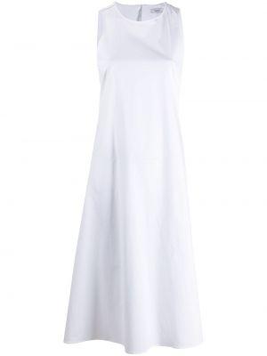 Прямое белое платье А-силуэта без рукавов Peserico