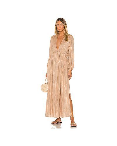 Платье макси с вырезом с люрексом Sundress