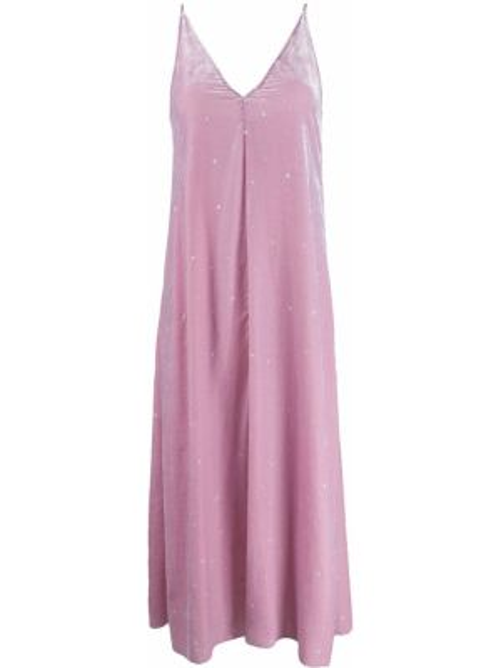 Платье макси розовое на бретелях Forte Forte