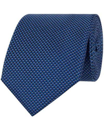 Niebieski klasyczny krawat z jedwabiu Monti