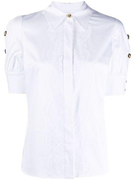 Белая классическая рубашка с воротником на кнопках Elisabetta Franchi