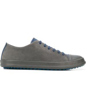 Синие кожаные сандалии на шнуровке Camper