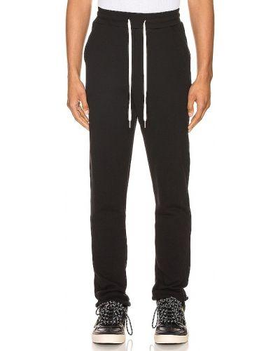 Bawełna czarny spodnie na gumce John Elliott