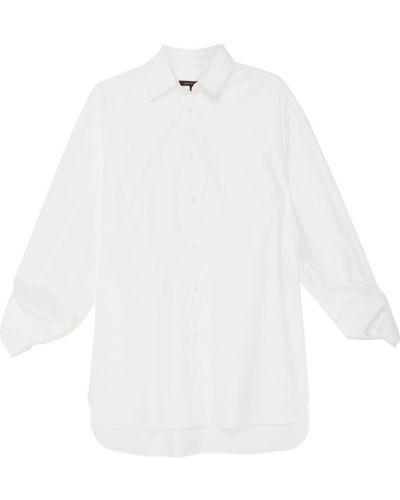 С рукавами белая блузка с воротником Adolfo Dominguez