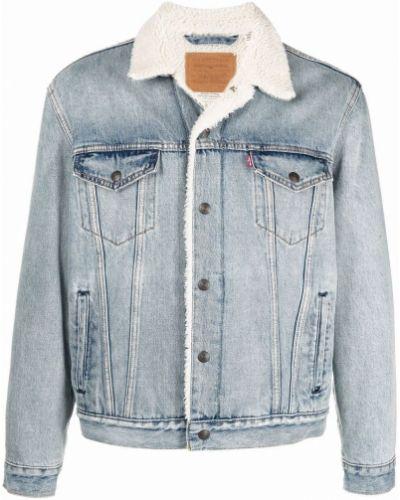 Хлопковая джинсовая куртка с воротником на пуговицах Levi's®