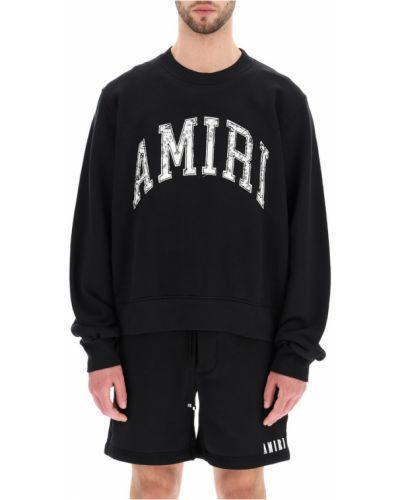 Czarna bluza długa oversize z długimi rękawami Amiri