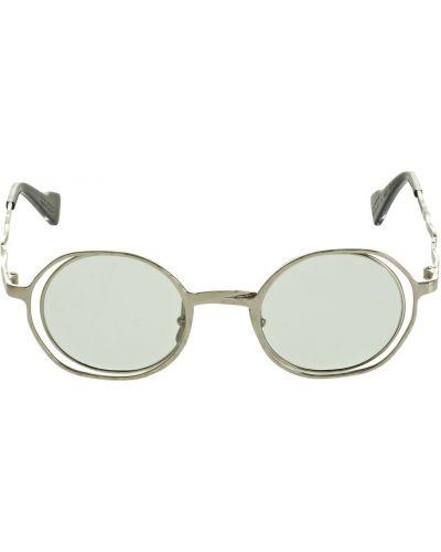 Zielone okulary srebrne Kuboraum Berlin
