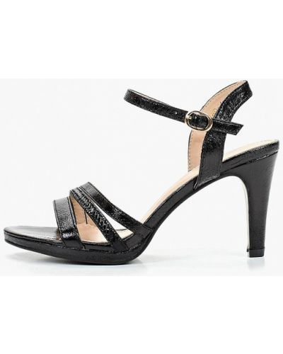 Босоножки черные на каблуке Ws Shoes