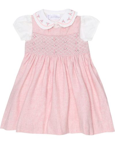 Ватная шерстяная розовая блузка Rachel Riley