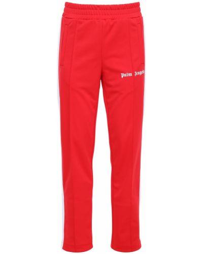 Golf spodnie w paski z boku z kieszeniami z paskami Palm Angels