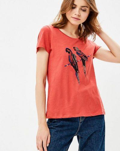 Красная футболка индийская Tom Tailor