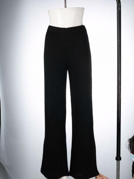Czarne spodnie wełniane Vince