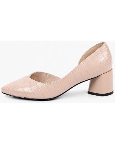 Кожаные розовые туфли Covani