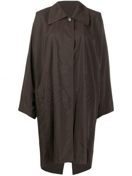 Серое нейлоновое пальто с воротником на пуговицах Maison Martin Margiela Pre-owned